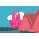 bv025 | bon voyage | Cologne Cathedral - postcard A6