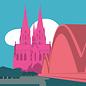 bv025 | bon voyage | Kölner Dom - Postkarte A6