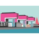 bv026 | bon voyage | Kranhaus Crane Houses, Cologne - postcard A6