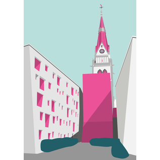 bv027 | bon voyage | Christ church, Cologne - postcard A6