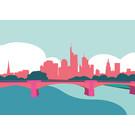 bv028 | Postkarte - Skyline Frankfurt