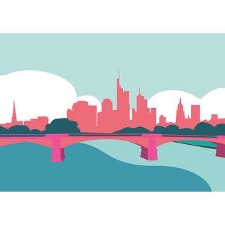 bv028 | bon voyage | Frankfurt Skyline  - postcard A6