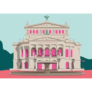 bv030 | bon voyage | Alte Oper, Frankfurt - Postkarte A6