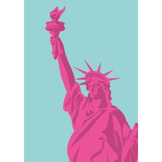 bv033 | bon voyage | Statue of Liberty, New York - postcard A6