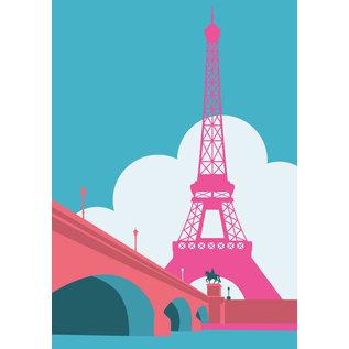 bv034 | bon voyage | Eiffel Tower, Paris - postcard A6