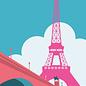bv034 | bon voyage | Eiffelturm, Paris - Postkarte A6