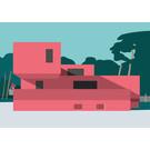 mo001 | MONUMENT | Bauhaus Model House - ArtPrint DIN A5