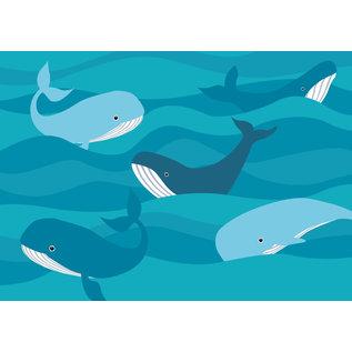 Postkarte - Wale