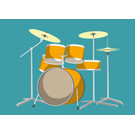 cc163 | crissXcross | Drums - postcard A6