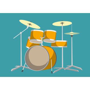 cc163 | crissXcross | Schlagzeug - Postkarte A6