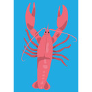 lu098 | luminous | Lobster - postcard A6