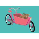 lu105 | luminous | Family Bike - postcard A6