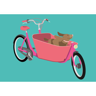 lu105   luminous   Family Bike - postcard A6