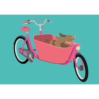 lu105 | Postkarte - family bike