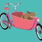 lu105   luminous   family bike - Postkarte A6