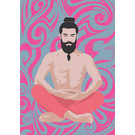 ha017 | happiness | Yoga Meditation - postcard A6