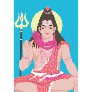ha018 | happiness | Shiva - Postkarte A6