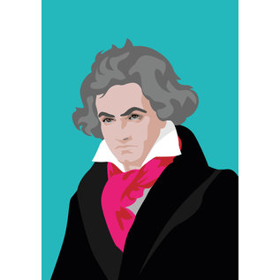 ng050   pop art new generation   Ludwig van Beethoven - Postkarte A6