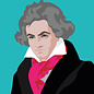 ng050   Postkarte - Ludwig van Beethoven