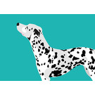 bf001 | best friends | Dalmatiner - Postkarte A6