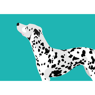 bf001 | best friends | Dalmatian - postcard A6
