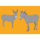 bf004   best friends   Donkey - postcard A6