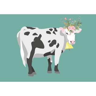 bf005 | best friends | Cow - postcard A6