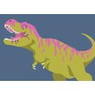 bf007   best friends   Tyrannosaurus - postcard A6