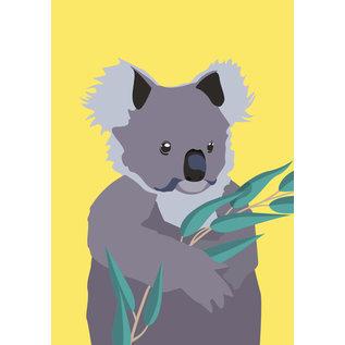 bf009 | best friends | Koala - Postkarte A6
