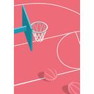 ma901 | Modern Art | Basketball - ArtPrint DIN A5