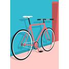ma902 | Modern Art | Fixie Bike - ArtPrint DIN A5