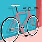 ma902 | ArtPrint A5 - Fixie Bike
