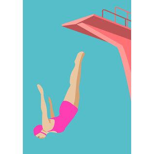 ma903 | ArtPrint A5 - The Jump