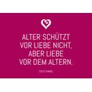 ws037 | Wortsinn | Alter schützt vor Liebe nicht... - Postkarte A6