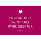 ws038 | Postkarte - Es ist das Herz...