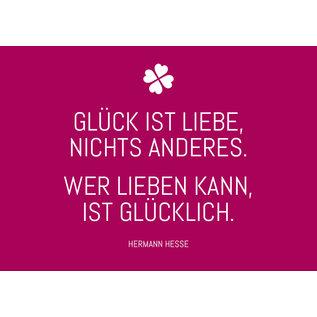 ws039 | Postkarte - Glück ist Liebe...