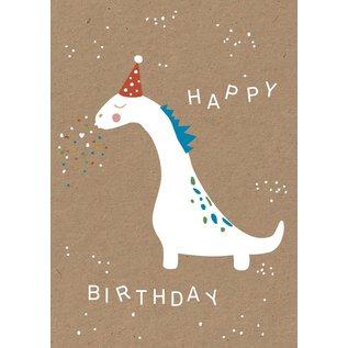 df036 | Designfräulein | Happy Dino - Postkarte A6