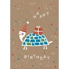df037 | Postkarte - Happy Schildkröte