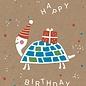 df037 | Designfräulein | Happy Schildkröte - Postkarte A6