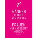 ws058 | Wortsinn | Männer können analysieren... - Postkarte A6