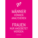 ws058 | Wortsinn | Men Can Analyze ... - postcard A6