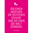 ws059 | Wortsinn | Give A Girl ... - postcard A6
