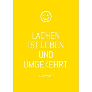 ws060 | Postkarte - Lachen ist Leben und umgekehrt