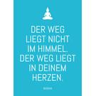 ws065 | Postkarte - Der Weg liegt nicht im Himmel...