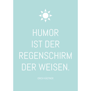 ws068 | Postkarte - Humor ist der Regenschirm...