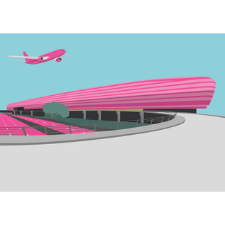 bv036 | bon voyage | Flughafen Frankfurt - Postkarte A6