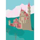 bv035 | bon voyage | Neuschwanstein Castle - postcard A6