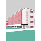mo502 | MONUMENT | Bauhaus Dessau - ArtPrint DIN A5