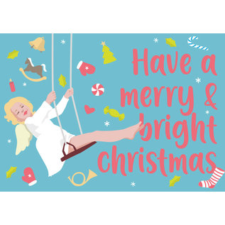 ccx008 | crissXcross | have a merry & bright christmas - Postkarte A6