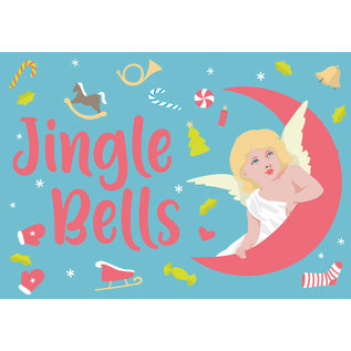 ccx009 | crissXcross | Jingle Bells - postcard A6
